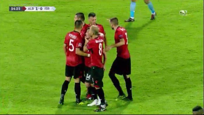 Goli i Xhakës mposht Izraelin, Shqipëria e nis me fitore Ligën e Kombeve