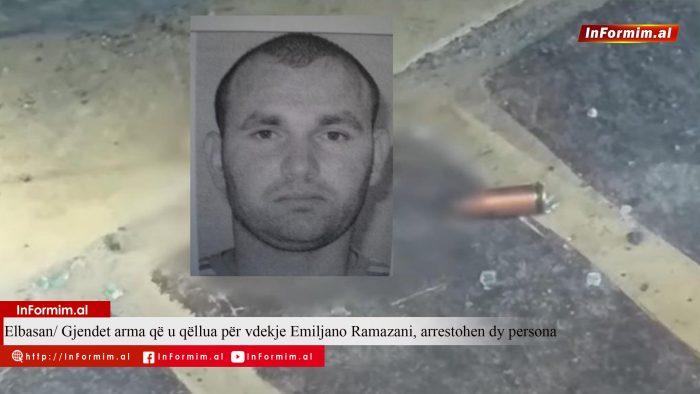 Elbasan/ Gjendet arma që u qëllua për vdekje Emiljano Ramazani, arrestohen dy persona