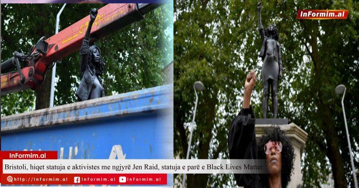 Bristoli, hiqet statuja e aktivistes me ngjyrë Jen Raid, statuja e parë e Black Lives Matter