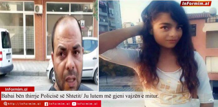 Babai bën thirrje Policisë së Shtetit/ Ju lutem më gjeni vajzën e mitur.