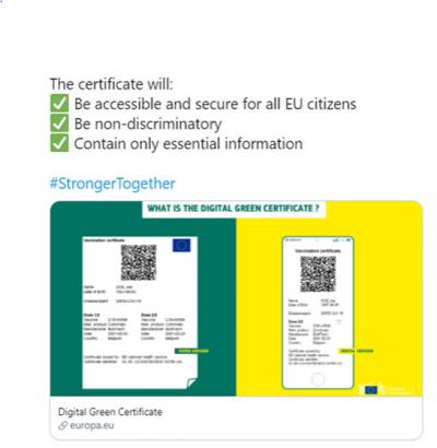 Certifikata Shëndetësore që do të lejojë lëvizjen e lirë në Europë , të qytetarëve të BE-së dhe atyre që nuk janë të BE-së, por jetojnë në bllokun Europian