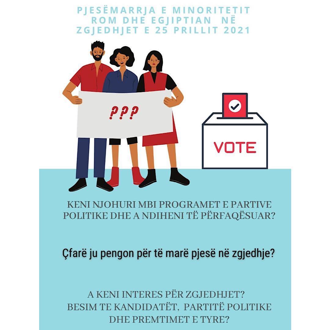 Pjesmarrja e komunitetit Rom dhe Egjiptian në zgjedhjet e 25 Prillit