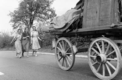 Gratë rome të paraqitura në Uells në maj 1954 - Ron Harding / Mirrorpix