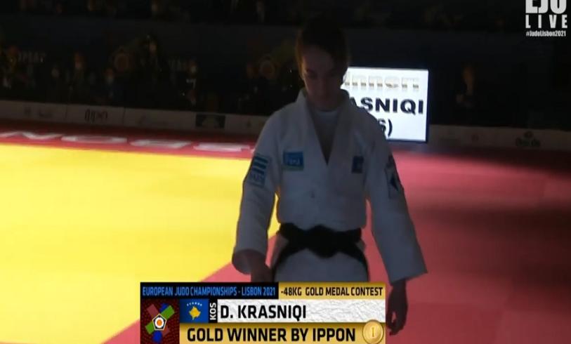 Kampionati Europian i Xhudos – Shqiptarja që rrëmbeu medaljen e artë në Portugali
