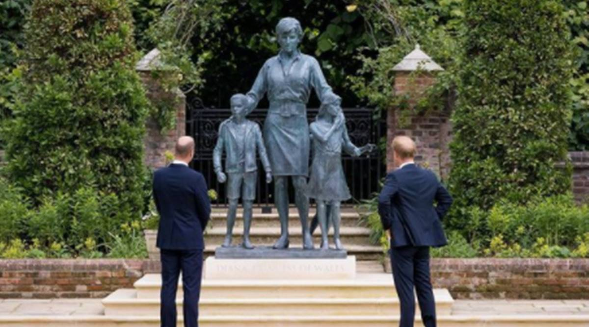 Perurimi i statujes se princesh Dianes, ka ribashkuar dy vellezerit,Harry dhe William.