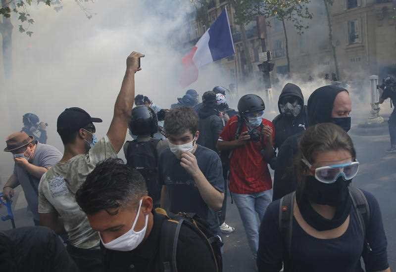 Protesta kundër kufizimeve antiCovid në Francë